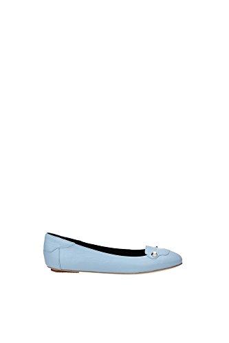 Ballerine Balenciaga Donna Pelle Blue Dragee 349278WAD404915 Celeste 36EU
