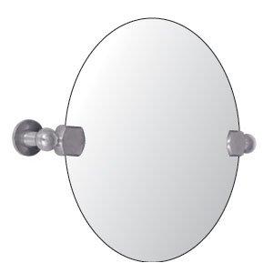Watermark designs 82 0 9b gun metal bathroom accessories for Oval swivel bathroom mirror