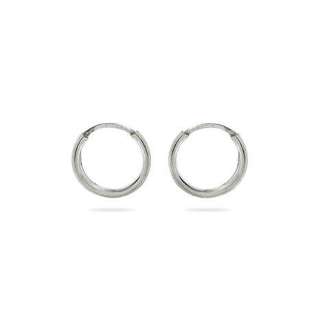 Simple Silver Hoop Earrings