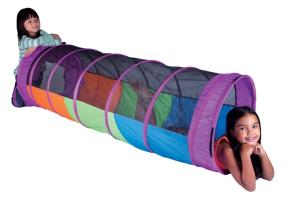 The tunnel stimulates imagination and offers plenty of space to play.