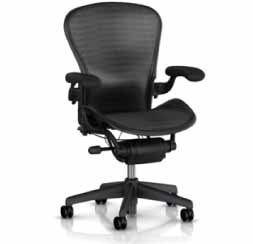 Aeron Chair by Herman Miller - Home Office Desk Task Chair Fully Loaded Highly Adjustable Medium Size (B) - PostureFit Lumbar Back Support Cushion Graphite Frame Grey Black Tuxedo Pellicle