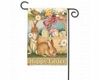 Easter Bunnies Garden Flag