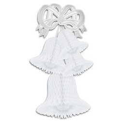 Tissue Bell Cluster (white) Party Accessory  (1 count) (1/Pkg)