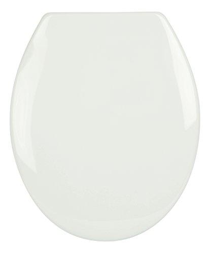 WC-Sitz Siena ägäis | Toilettensitz | WC-Brille aus Duroplast-Kunststoff | Klodeckel mit Edelstahl-Scharnier | Fast-Fix-Schnellbefestigung | Toilettendeckel