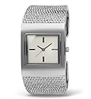 M&S Collection Square Face Textured Bangle Watch