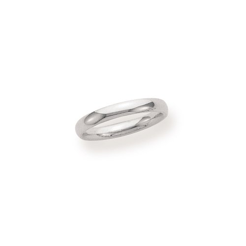 Women's 14k White Gold 3mm Comfort Fit Wedding Band Ring, Size 5