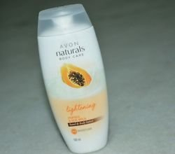 Avon Naturals Body Care Lightening Papaya & Soya Milk Hand & Body Lotion