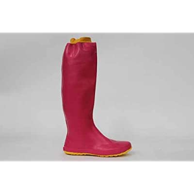 Amaort Designer Roll Up Pink Rain Boots Wellies