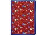 "Joy Carpets Playful Patterns Children's Scribbles Area Rug, Red, 7'8"" x 10'9"""