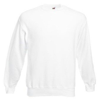 Fruit Of The Loom Mens Set-In Belcoro® Yarn Sweatshirt (XL) (White)