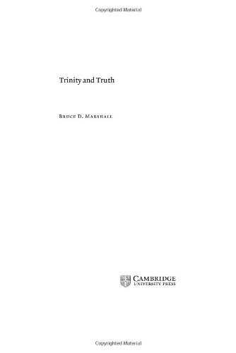 Trinity and Truth (Cambridge Studies in Christian Doctrine)