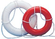 DOCK EDGE LIFE RING BUOY 20 WHITE USA Hard Shell Prevents Tearing Virtually Vandal... by Dock Edge