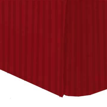 Marrikas 300Tc Egyptian Cotton Twin Bed Skirt Stripe Red front-1018476