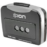 ION Tape 2 Go Cassette Player and Converter with USB