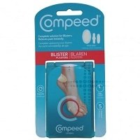 THREE PACKS of Compeed Blister Plasters Mixed Sizes x5