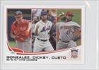 2012 Nl Wins Leaders (Gio Gonzalez, R.A. Dickey, Johnny Cueto) John Curtice, Washington Nationals, New York Mets, Cincinnati Reds (Baseball Card) 2013 Topps Mini #287