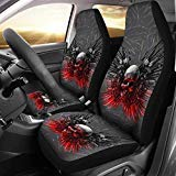 Limited Edition-Gun and Skull Print Car Seat Covers (Universal Fit) (Color: Multicolour, Tamaño: Universal Fit)