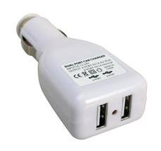 2-Port USB Car Charger Adapter for iPod/iPhone, MP3, Cell Phone