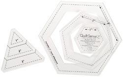 OLipfa Quilt Sense Hexagons & 60 Degree Triangles 3 Sizes 85014; 2 Items/Order