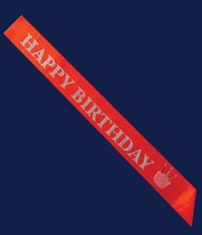 Elope Happy Birthday Sash Costume, Red - 1