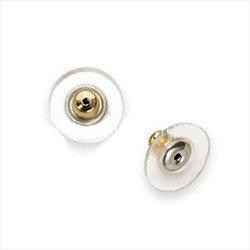 UnCommon Artistry Gold Tone Hypo Allergenic Bullet Clutch Earring Backs with pad (50)