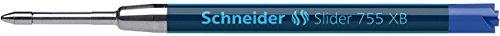 Schneider stylos à bille slider 755, écriture permanente, mine xB (bleu)