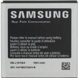 Samsung Original Genuine OEM 1850 mAh Battery for Samsung Galaxy S II - Non-Retail Packaging - Silver