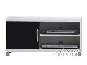 Image of Contemporary Two Tone TV Stand With Storage by Acme Furniture (B007MTRXAW)