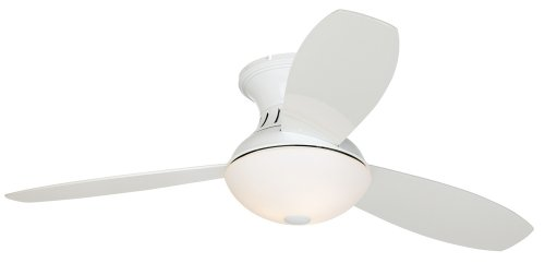 "44"" Encore? Possini Euro White Hugger Ceiling Fan"