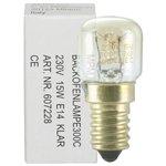 EE-053-1 # 1 Backofenlampe Lampe Glühbirne für Backofen E14 / 15 Watt Birnenform klar
