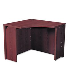 * 10500 Series Curved Corner Workstation, 18 x 36 x 36 x 18 x 29-1/2h, Mahogany