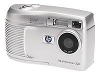 HP PhotoSmart 320 - Digital camera - compact - 2.1 Mpix - supported memory: MMC, SD - silver from Hewlett Packard