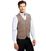 Blue Harbour Pure Cotton Knitted Waistcoat