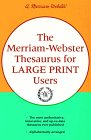 img - for The Merriam-Webster Thesaurus for Large Print Users book / textbook / text book