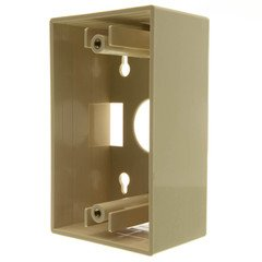 Dealsjungle Single Gang Surface Mount Box, Ivory