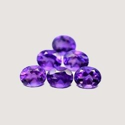 Natural Amethyst AAA Quality loose Gemstone 7x5 mm Faceted Oval 50 pieces Lot from Dashrath International