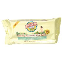 Earth's Best Baby Wipes, Chlorine Free, Refill 72-Count (Pack of 12)