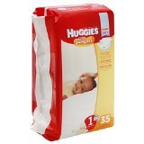 Huggies Diapers, Size 1 (Up to 14 lb), Disney Baby Winnie the Pooh, Jumbo 40 diapers - 1