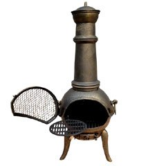 Firefox Chiminea - Lava Chiminea - Cast Iron Bowl Steel Flume Chiminea - Swing Out Grill - Bronze - Large from Firefox