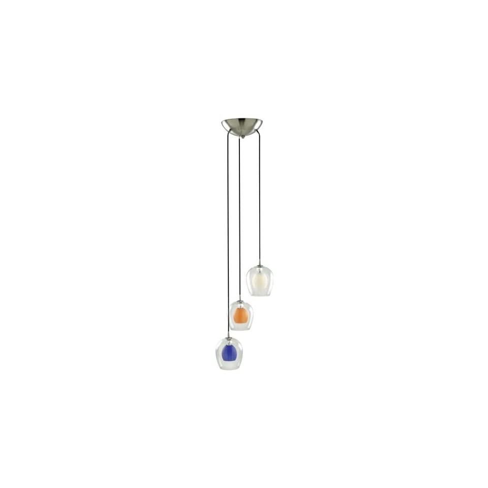 Brighton Collection 3 Light Multi Colored Pendant Lamp