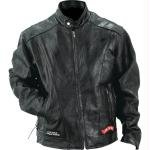Diamond PlateTM Men Rock Design Buffalo Leather Motorcycle Jacket - Medium