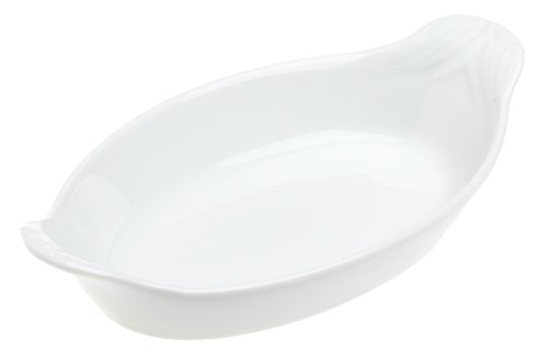 Pillivuyt Miniature Oval Eared Dish, 5x3 inch, White