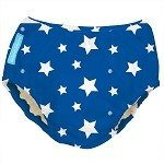 Charlie Banana Best Extraordinary Reusable Swim Diaper (Large, White Stars On Blue)