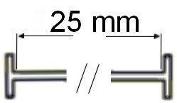 T-end fils standard en nylon (de 25 mm-lot de 5000 attaches textiles)