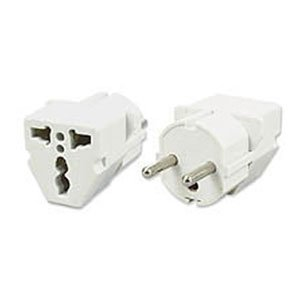 Vct Vp-109 Universal Plug Adapter For Usa To Europe - Heavy Duty Shucko Plug Also Fits Recessed Outlets In Europe - Ce Certified