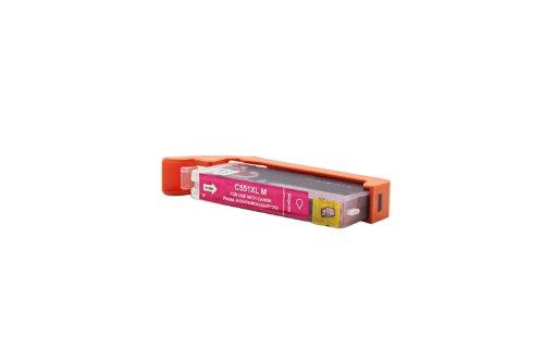 Officehandel Tinte (magenta, Inhalt 12 ml) ersetzt Canon 6445B001 / CLI-551MXL für Canon Pixma IP 7250, MG 5450, MG 6350, MX 725, MX 925