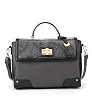 M&S Collection Faux Snakeskin Design Handbag