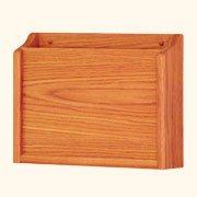 Wooden Mallet Privacy Chart Holder, HIPAA Compliant, Letter Size, Medium Oak