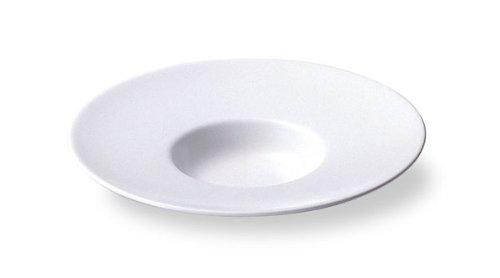 ワイドリム 20cm平型スープ皿 白い食器