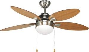 Agitatore ventilatore da soffitto con 4 pale in legno noce for Ventilatore a pale da soffitto silenzioso